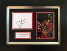 AMIR KHAN HAND SIGNED FRAMED PHOTO DISPLAY BOXING AUTOGRAPH.