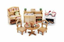 Sylvanian Families, Calico Critters Deluxe Kitchen Set, Pretend Play