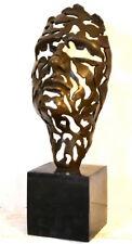 Abstrait Bronze Visage Hommage à Salvatore Dali sur bronze socle