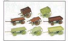 Handwagen 8 Stück Bausatz Preiser 17103 Figuren Spur HO (16,5 mm) Zubehör OVP