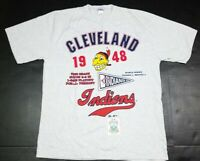 Vtg Cleveland Indians MLB 1948 World Series Cooperstown Collection Shirt XL 1996