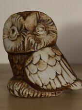 VINTAGE QUANTOCK DESIGNS POTTERY - LITTLE OWL - VGC Approximately 8cm
