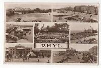 Rhyl 1934 Multiview RP Postcard Flintshire Wales 944b