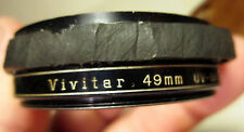 Vivitar UV Haze Filter 49 mm Japan Screw Mount + Leather Case Camera Accessory