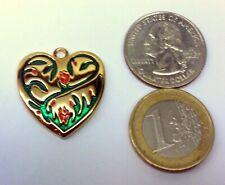 * Celtic Heart Pendant Geocoin Wearable Unactivated Trackable