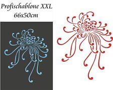 Schablone, Dekorschablone, Wandschablone, Malerschablone, Chrisanthemenblüte XXL