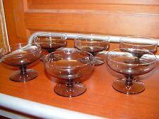 """6 Holmegaard 2.75"""" grey Dessert Cups - Glasses"""