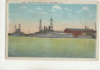 Navy Yard From Water Front Portsmouth Va USA Vintage Postcard Chessler Co US037