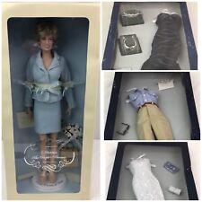 Diana THE PEOPLE'S PRINCESS VINYL PORTRAIT DOLL Franklin Mint Lot W/Clothing NIB