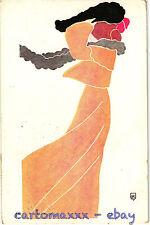 Art Nouveau - Beautiful Woman Belle Femme - Signed BBK - L084