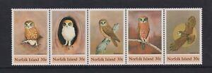 Norfolk Island - 1984, Boobook Owl, Birds set - MNH - SG 338/42