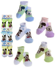 LOT OF 15 PAIR Disney Mickey Mouse Infant Baby Booties Socks 6-12 months NEW