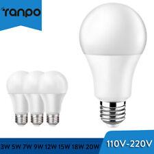 110V- 220V E27 E26 LED Globe Bulb Lamp Light 3W 9W - 15W 18W 20W Cool Warm White