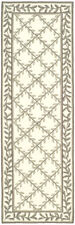 Safavieh Hand Hooked IVORY / SAGE Easy Care Runner 2'-6 x 10'