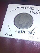 1 PESETA DE PLATA DE 1894 PGV ALFONSO XIII MUY RARA Y ESCASA PRECIO CATAL. 350€