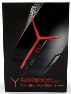NEW SEALED Lenovo GX30J34225 Y Gaming Precision Mouse BLACK/RED Omron Customize