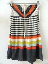 Juniors Roxy Strapless Halter Striped Short Dress Size XL NWT