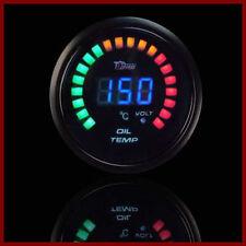 "2"" 52mm LED Car Digital Oil Temp Temperature Gauge Racing Meter Black Shell Auto"
