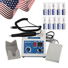 USA Dental Marathon Micromotor Machine with Handpiece + 10 Tungsten Carbide Burs