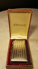 Antique Art Deco Slide-A-Lite Marathon Lighter Cigarette Case-Complete!