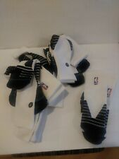 Lot 6 Pairs Men's Medium Stance Fusion Basketball Crew Socks NBA White Black