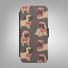PUG CUTE DOG ANIMAL PATTERN FLIP WALLET PHONE CASE COVER FOR IPHONE SAMSUNG b209