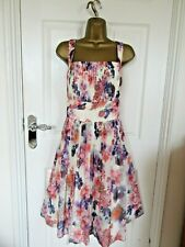 "STUNNING CHIFFON OCCASION DRESS BY MONSOON UK-18 BUST 44"" LENGTH 42"""