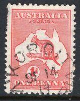 Victoria KORIOT 1914 ? postmark unframed on 1d Kangaroo
