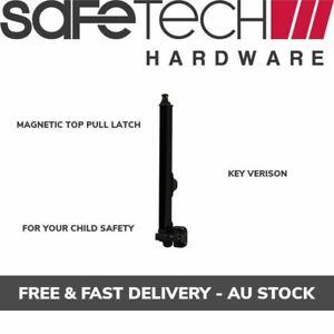Safetech Key Lockable Magnetic Latch For Pool Safety Gates Black Polymer SL-50H