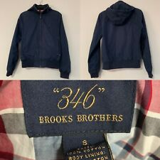 Brooks Brothers 346 Mens Navy Blue Hooded Jacket