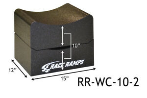 """Race Ramps 10"""" H Wheel Cribs Lightweight Jack Stands or Display 2-Pc RR-WC-10-2"""