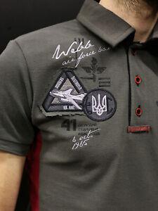 """""""Aviatsiya Halychyny"""" polo, """"Flying cossacks' Ukrainian, Size L"""