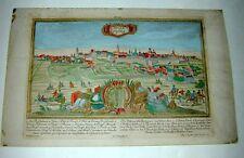 Leipzig Lipsia Ansicht Barock Kupferstich Engelbrecht Werner Ringlin 1740