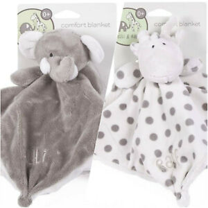 Elli and Raff Grey Range Baby Toys Range Comfort Plush Blanket Cot Toys 0+ Month
