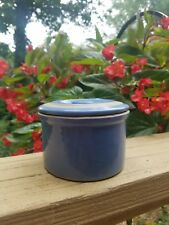 Blue Stoneware Butter bowl with lid