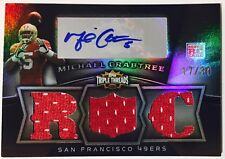 2009 Topps Triple Threads Michael Crabtree Jersey Auto RC /30