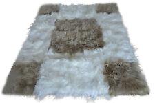 Exclusif Islande peau LAINEE tapis blanc beige 200cm x 160cm fellteppich LAMBSKIN