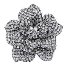 5.63 T.C.Con Flor Anillo Con Diamante 18 ct Oro