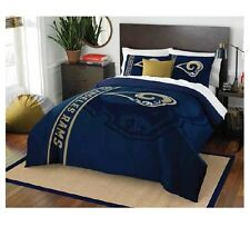 Licensed Nfl Football Los Angeles Rams Soft Full Size Comforter w/ Pillow Case
