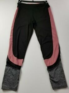 Women's Activewear Leggings 1X Plus Pink Black Gray Pull On Stretch Gym Workout
