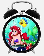 "Little Mermaid Ariel Alarm Desk Clock 3.75"" Home Office Decor E325 Nice Gift"