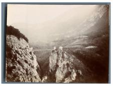 France, Environs de Grenoble, Un Pont à la hauteur  Vintage citrate print.  Ti