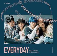 WINNER [EVERYD4Y] 2nd Album RANDOM CD+P.Book+Lyrics+Postcard+Card+Sticker SEALED