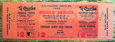 NY Mets 1st EVER WORLD SERIES WIN FULL ticket 10/12/69 1969 pre Shea Stadium