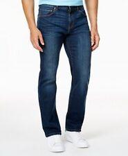 $250 CLUB ROOM Mens STRAIGHT LEG FIT JEANS BLUE STRETCH DENIM PANTS 32 W 32 L