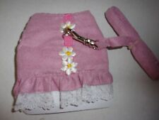 Pink Daisy lace Ferret Fashion Jacket Style Harness Lead teacup dog puppy tiny