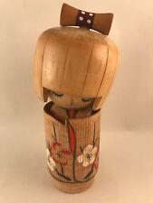 16cm Japanese Kokeshi Doll  - Made in Japan - Handmade Wooden Girl Female Doll