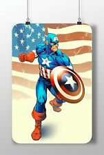 METAL SIGN Captain America #3 Superheroes Great Poster Home Decor Wall Garage
