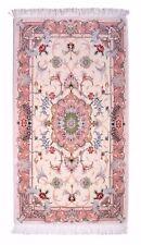 Tabriz 131 x 72 cm echter Handgeknüpfter Orientteppich Perser floral, mit Seide