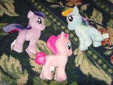 "3 approx. 7"" MLP My Little Pony plush stuffed animals lot of toys sweet girls"